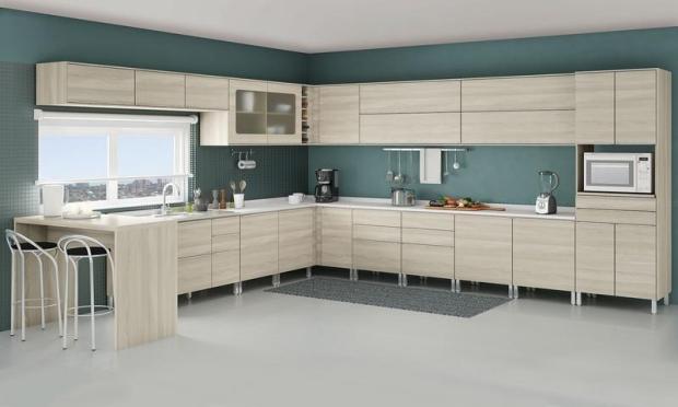 Muebles de cocinas modernas de melamina for Gabinetes de cocina modernos 2016