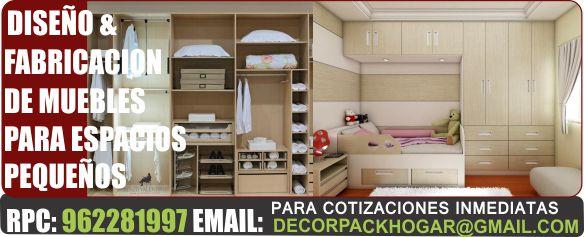 Muebles closet modernos para espacios peque os dise os for Muebles de cocina para espacios pequenos