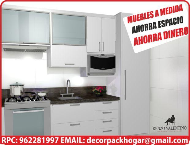 Muebles de cocina para espacios peque os dise os muebles for Muebles de cocina para espacios pequenos