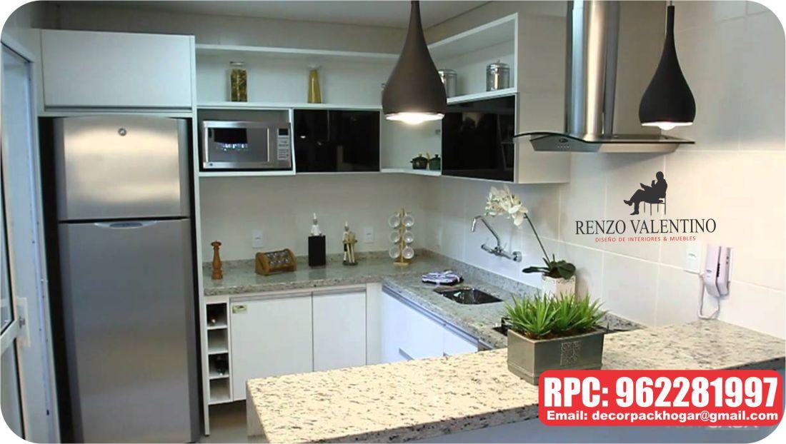 Cocinas modernas espacios peque os lima peru dise o y Modelos de cocinas modernas para espacios pequenos