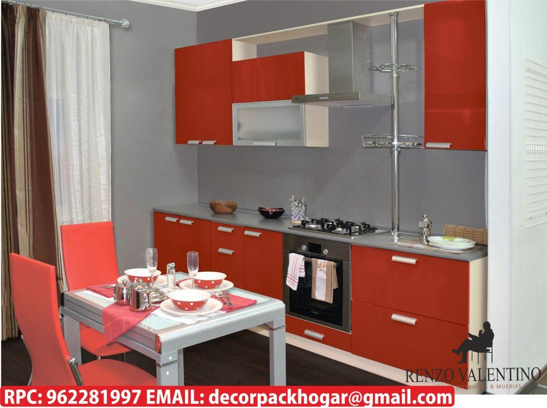 Modelos de muebles para cocina renzo valentino dise o for Cocinas modernas para espacios pequenos